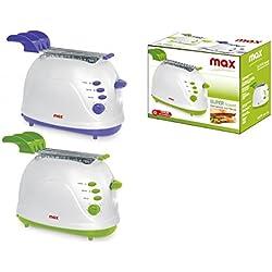 Max Casa I01587 Super Toast Max Tostapane Elettrico Multifunzione, Verde/Viola