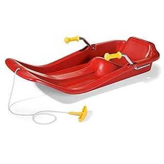 RollyToys rollyJetstar Schlitten (Kinderschlitten, 2 Metallbremsen, Kunststoffschale, ergonomischer Sitz, ab 3 Jahre) 200436