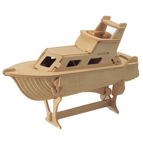 ETNA Ilawa Yacht 3D Holzbausatz Schiff Boot Holz Steckpuzzle Holzpuzzle Kinder P041