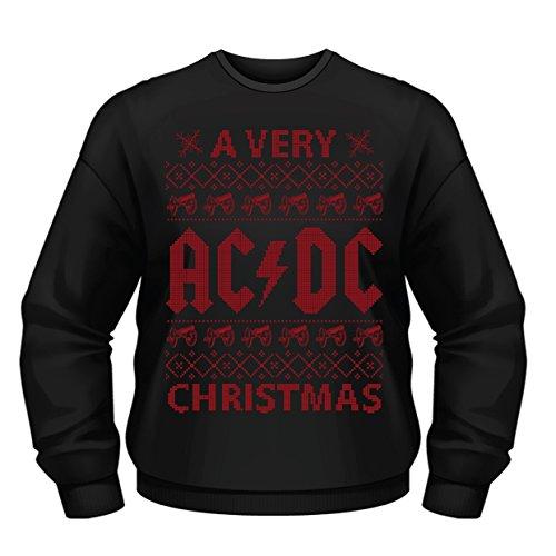 Plastic Head Herren Sweatshirt A Very AC/DC Xmas CSW, Schwarz, S