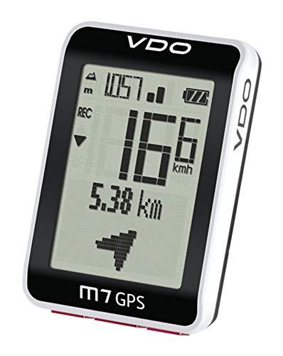 VDO Fahrradcomputer M7 mit GPS Fahrradtacho Höhenmesser Fahrradnavi (schwarz-Weiss) (Vdo-fahrradcomputer)
