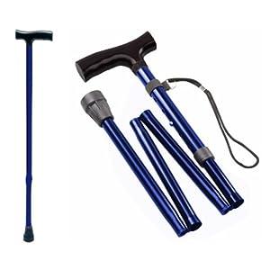 Gehstock Krückstock Spazierstock Aluminium Blau 1 Stück Wanderstock Gehhilfe Tiga-Med Gehstöcke Krücken Krückstöcke