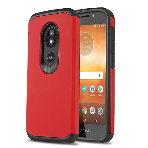 Schutzhülle für [Motorola Moto E5 GO (Verizon)], [DuoTEK Serie] Stoßfeste Hybrid-Schutzhülle [Defender[Stoßdämpfung] für Motorola Moto E5 Go/Play/Cruise (Verizon Wireless Prepaid-Telefon), rot - Prepaid-verizon-handys