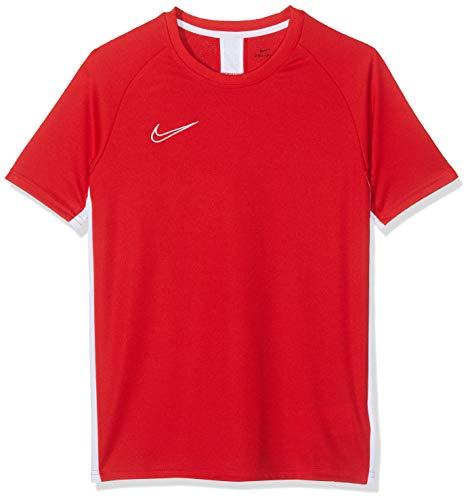 Nike Jungen B NK DRY ACDMY TOP SS, T-shirt Rot (University Red/White), M (Tennis-fußball-kinder)