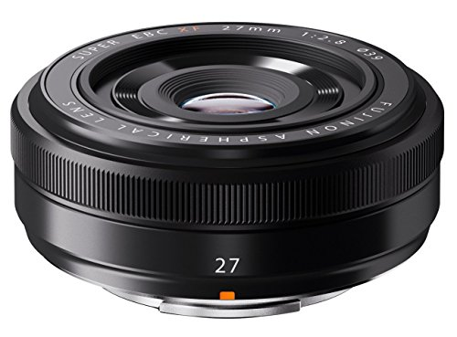 Fujifilm XF 27 - Objetivo para Fujifilm (distancia focal fija 27 mm, apertura f/2.8-16.0, diámetro: 61 mm), color negro