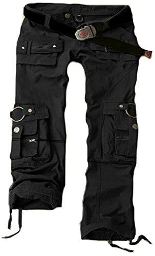 Juicy Trendz Frau Hosen Armee Militär Damen beiläufig Ladung keuchen Schwarz XL (Frauen-hosen Aufstieg)