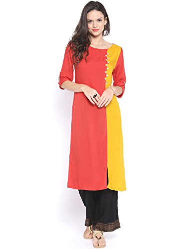 Fusion Multicolor Cap Half Long Short Sleeve Sleeveless Kurtis Kaftan for Girls (GT-KRC-RY-XXL)