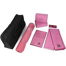 Clever Yoga Kit 7Essentials für Anfänger inkl. Ultra Dicke Matte, 2Blocks, 8Fuß Yoga Gurt, Handtuch und großes Handtuch und Tragetasche
