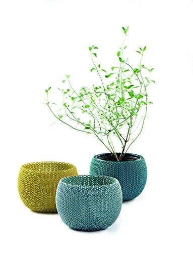 Keter vasi per Piante da Interni/Esterni Realizzati a Maglia-Colori Assortiti, Set da 3