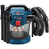 Bosch Professional Akku Nass- und Trockensauger GAS 18V-10 L (2x 5,0 Ah Akku, Ladegerät, Bogenrohr, 3x Verlängerungsrohr, Fugendüse, Bodendüse, HEPA-Filter, 18 Volt, 1,6 m Schlauchlänge)