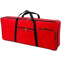 Funda acolchada de transporte para teclado electrónico de 61 teclas, tela Oxford 420D impermeable, con correas de hombro y asas de transporte (CYDZ01), rojo