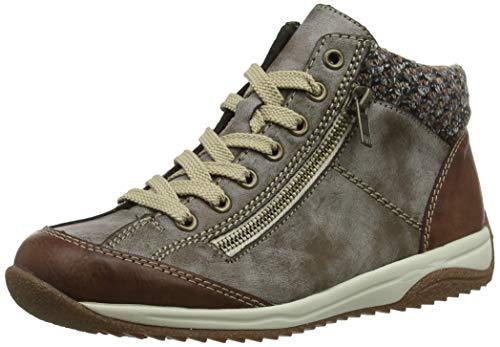 Rieker Damen L5223-24 Hohe Sneaker, Braun (Brandy/Cigar/Terra 24), 38 EU
