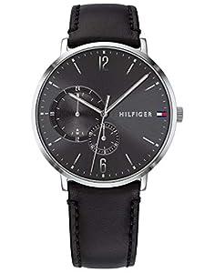 Tommy Hilfiger Reloj Multiesfera para Hombre de Cuarzo con Correa en Cuero 1791509
