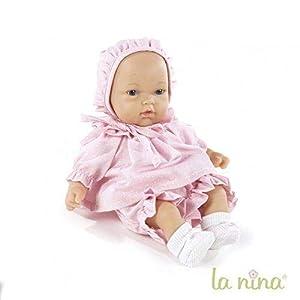 La Nina- Muñeca le Petit Dudu, Color Rosa, 30 cm (61604)