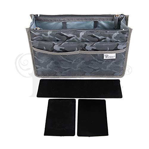 Periea organizzatore di borsette - chelsy premio con struttura - 14 colori disponibili - piccolo, medio o grande (grigio camuffare, medio)