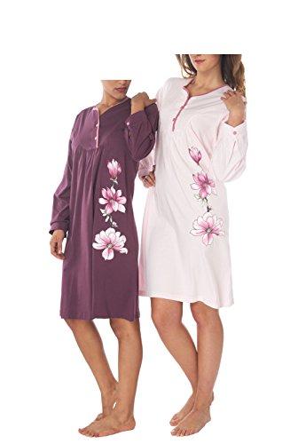 Ensemble de Pyjama Femme 100% Coton Manches longues Bleu