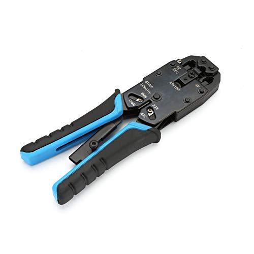 Comomingo Crimpdraht Crimper Crystal Head Kabel Alicate Press Zange Ethernet Cutter