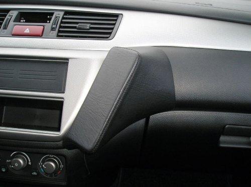 Haweko Telefonkonsole für Mitsubishi Lancer, Bj. 11/03-07 Premium-Leder, Schwarz (Zubehör Lancer Mitsubishi)