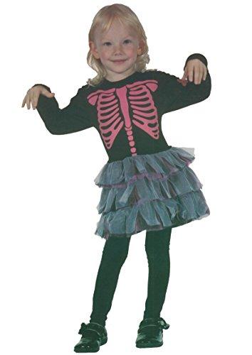 Mädchen Skeleton Girl Tolddler Under Age 4 Jahre (Toddler (Under 4 years), Schwarz)