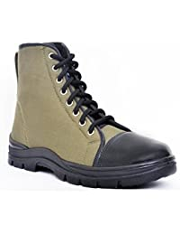Allen Cooper 7045 Jungle Safety Boot, Size-8 UK, Green