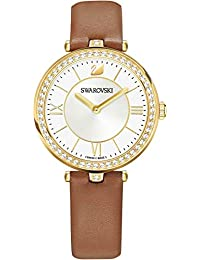 6dfa2a859ef909 Swarovski Aila Dressy Lady Watch - Leather Strap Brown Gold Tone 5376645