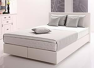 boxspringbett ramona inklusive topper kunstleder weiss 160x200 cm k che haushalt. Black Bedroom Furniture Sets. Home Design Ideas