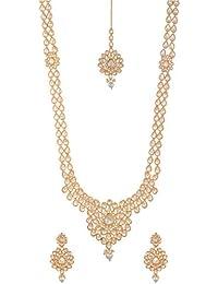 ASHAPURA NX Gold And White Copper Jewellery Set For Women (AX27)