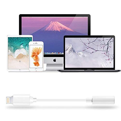 Kopfhörer-Aux-Audio-Jack-Adapter auf 3.5 mm für iPhone 7/7 Plus 8/8 Plus Kopfhörer-Kabelsteuerung Splitter-Extender-Adapter Kompatibles Audio + Charg + Control (Unterstützung für iOS 10.3 oder höher) - 7