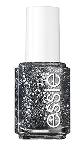 essie Nagellack Silbermetallic Glitzer Luxuseffects set in stones Nr. 278 / Transparenter Topcoat in Silber mit Glitzerpartikeln 1 x 13,5