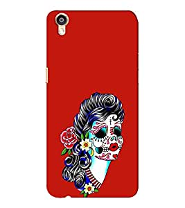 EPICCASE Girl with Flower Essence Mobile Back Case Cover For Oppo F1 Plus (Designer Case)