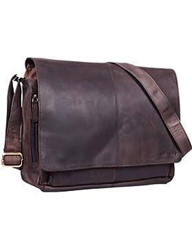 STILORD Vintage Ledertasche Männer Frauen Businesstasche zum Umhängen 15,6 Zoll Laptoptasche Aktentasche Unitasche...