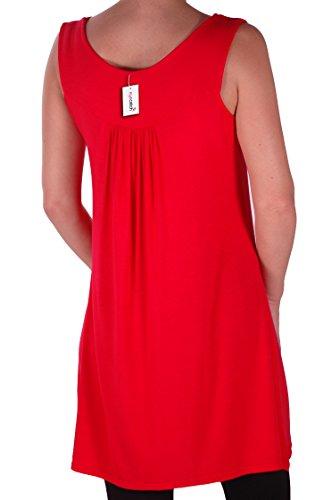 Eyecatch Plus - Haut sans manche droit clous - Evie - Femme Rouge