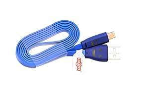 KONARRK Lighten Smiley Cable for Samsung V8 Blue