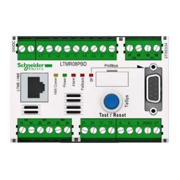 Schneider Electric ltmr08pbd tesys T, Controller LTM R 24V CD 8A per PROFIBUS DP