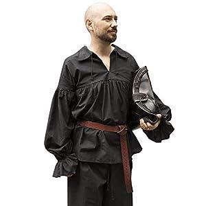Epic Armoury- Shirt Aramis Black-XL/2XL Camisa, Color epic black, xx-large (Iron Fortress 30052261)