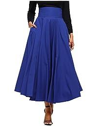 26027154d1 CTOOO Vendimia Señoras De Estilo Victoriano Alta Cintura Retro Falda para  Mujer