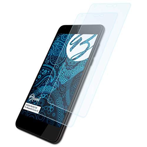 Bruni Schutzfolie für Blaupunkt SL Plus 02 Folie, glasklare Bildschirmschutzfolie (2X)