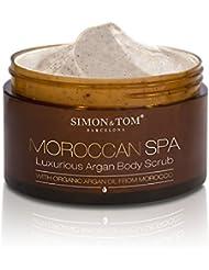 Simon & Tom Moroccan Body Scrub – Gommage pour le corps exfoliant à l'huile d'Argan biologique ✔ Vegan ✔ 200 ml