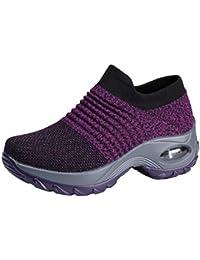 9bd906bb2d7 Femme Ballerines Loafers Chaussures Mailles Baskets Mode Respirantes de  Plein Air Chaussures