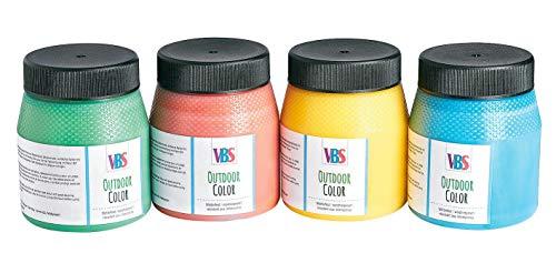 VBS Outdoor Color Farbset Außenfarben wasserfest 4er Set