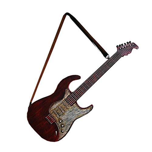 RUXMY Gitarre Modell Handwerk Retro-Stil Bar Internet Cafe Eisen Home Wand Anhänger (6 * 36 * 102 cm) -