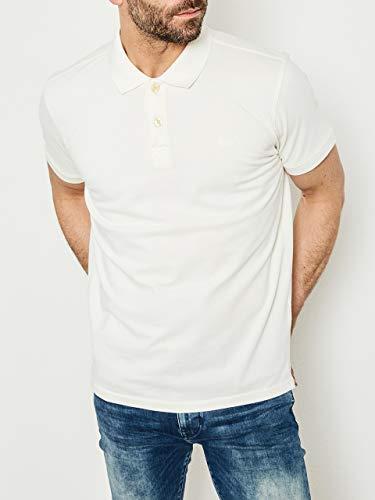 Petrol Industries Herren M-NOOS-POL001 Poloshirt, Weiß (Chalk White 0006), Medium (Herstellergröße: S) -