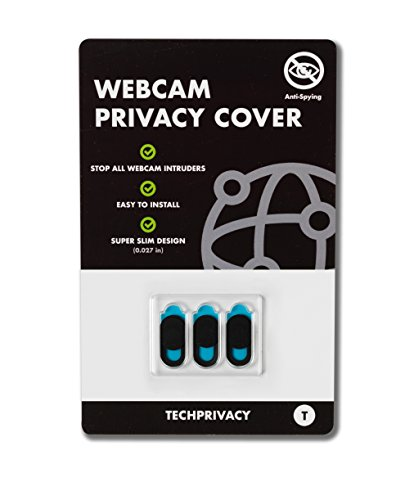 Cache Webcam par TechPrivacy (lot de 3) - Cache pour Webcam ultra fin - Adaptable iPad, PC portables, Macbook Pro, Mac, Macbook air, iMac, Dell, Lenovo, HP et beaucoup plus. Protège votre vie privée