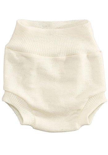 hessnatur Baby Mädchen und Jungen unisex Windelhose aus reiner Bio-Merinowolle natur 50/56