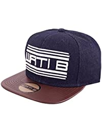 Wati B - Casquette Snapback Homme Denim 2 Tone - Blue / Brown