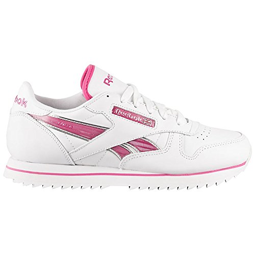 Reebok  Reebok Cl Lthr Etched Ripple V59137 Damen Schuhe Weiß, Loisirs femme Blanc - Weiß (Weiß-Pink)