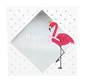 Depesche 8211.035Tarjeta de felicitación Glamour con Ornamento y Purpurina, cumpleaños