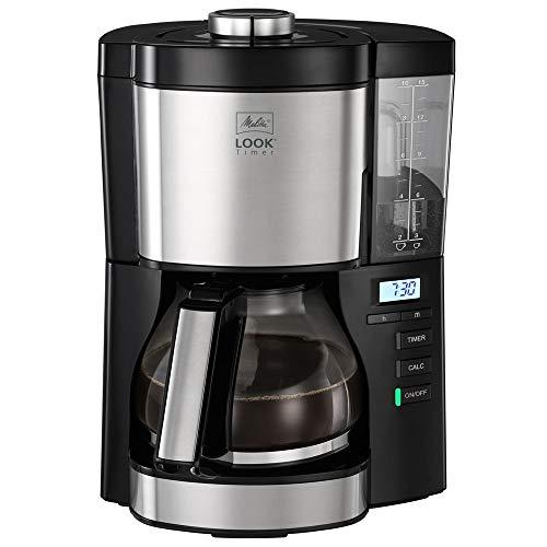 Melitta Look V Timer 1025-08 Cafetière filtre programmable, 10 à 15 tasses, réservoir d'eau...