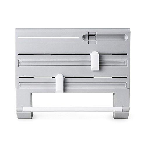 Symboat 6 in 1 Küche Kühlschrank Cling Film Lagerregal Regal Aluminiumfolie Wrap Cutter Wandbehang