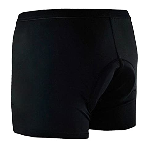 Baleaf Men's 3D Padded Cool Max Bicycle Underwear Shorts - Black, X-Large